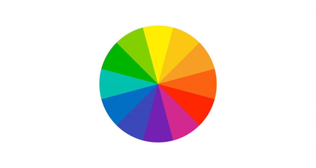En färgcirkel